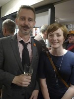 With my editor, Alison Hennessey, at the Black Chalk launch party