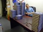 Signing 350 books for the wonderful Goldsboro Books