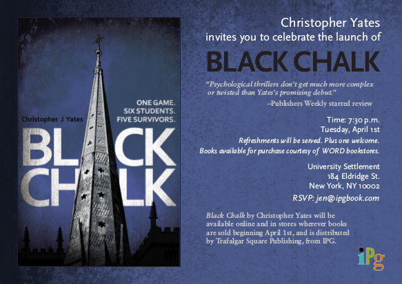 Black Chalk Launch Party Invite