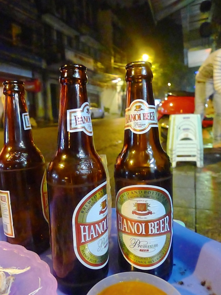 For reasons that will become clear, I have no photos of the bia hoi of Hanoi, so a picture of Hanoi beer will have to do